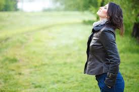 Woman Breathing Air Image