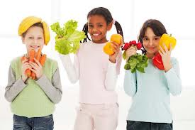 Kids Holding Healthy Food Image