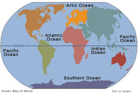 Locations of the Main Oceans Around the World
