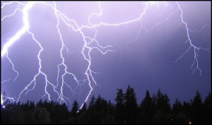 Lightning above the Forest - Science for Kids All About Thunder and Lighting