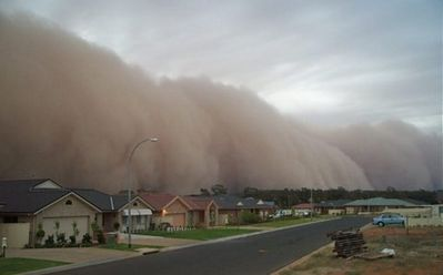 Sandstorm in a Neighborhood - Science for Kids All About Sandstorm