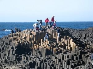 Tourists at the Giant's Causeway Image