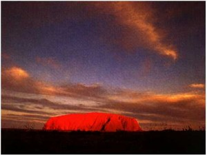 Ayers Rock Australia - Uluru at Dawn Image