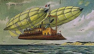 Dirigibles Above Water Image