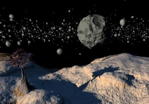 Asteroids in Space Image