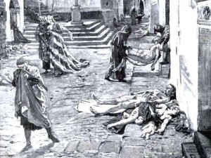 Sickly People from the Plague Image