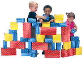 Kids Playing Blocks Image