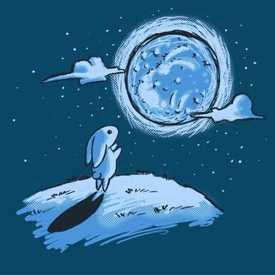 Rabbit Looking at the Moon Image - Science for Kids All About the Rabbit and the Moon