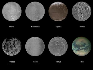 Saturn's Moons Image