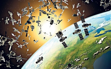 Space Junk in Orbit Image