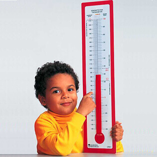 Kid with a Thermometer Image