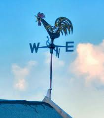 Wind Vane on a Roof Image