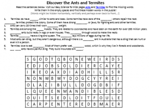 Download the FREE Ants and Termites Science Activity Sheet!