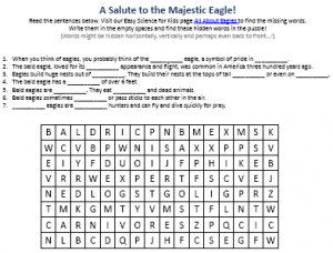 Download the FREE Eagles Worksheet!