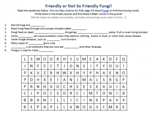 Download the FREE Fungi Worksheet for Kids!