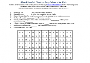 Download the FREE Hoofed Giants Word Game!