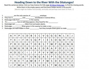 Download the FREE Sitatunga Worksheet!