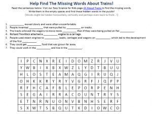 Download the Train Science Worksheet!