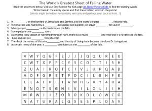 Download the FREE Victoria Falls Worksheet for Kids!