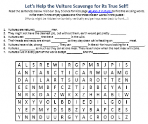 Download the FREE Vultures Worksheet for Kids!