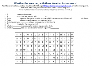 Download the FREE Weather Forecasting Instruments Worksheet for Kids