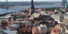 All about Belarus and the Baltic States for Kids - View from St. Peter's Church in Riga Old Town, Latvia Baltic State