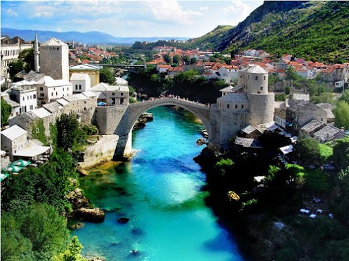 All about Bosnia and Herzegovia Fun Earth Science Facts for Kids - Bosnia City of Mostar - Bosnia and Herzegovina Worksheet