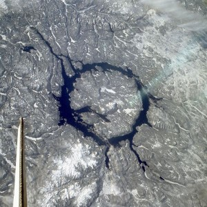 All about Craters Easy Science for Kids - View of the Manicouagan Crater in Canada From Above