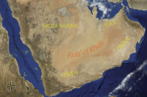 Map of the Empty Quarter for Kids - Location of the Empty Quarter (Rub'al Khali) image