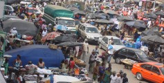 All about Ivory Coast for Kids - Image of the Market Street in Ivory Coast