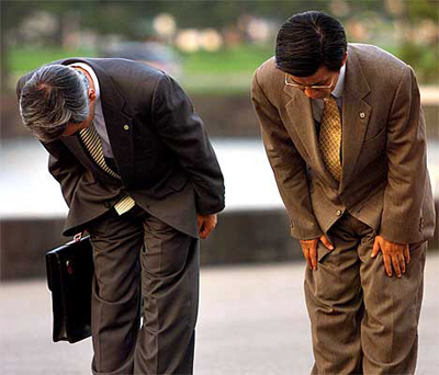 All About Japan Easy Science for Kids - Image of Japanese Bowing - Japan Quiz