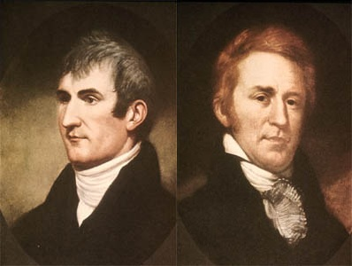 All about Lewis and Clark Fun Geography Facts for Kids - image of Meriwether Lewis and William Clark