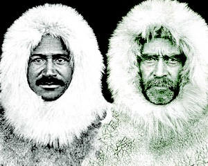 All about Matthew Henson Fun Science Facts for Kids - image of Matthew Henson and Robert Peary