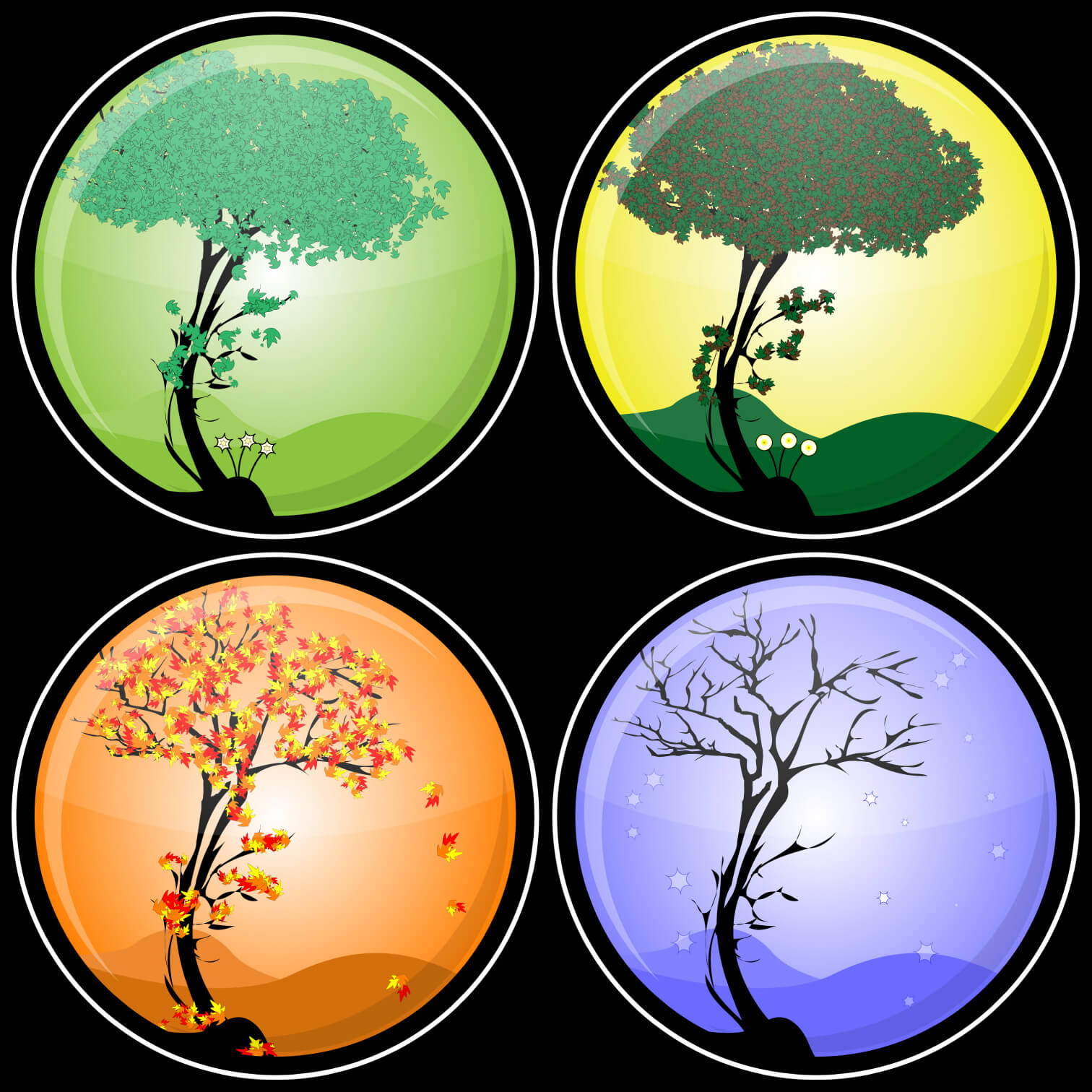 All about the Four Seasons Fun Earth Science Facts for Kids - the Four Seasons