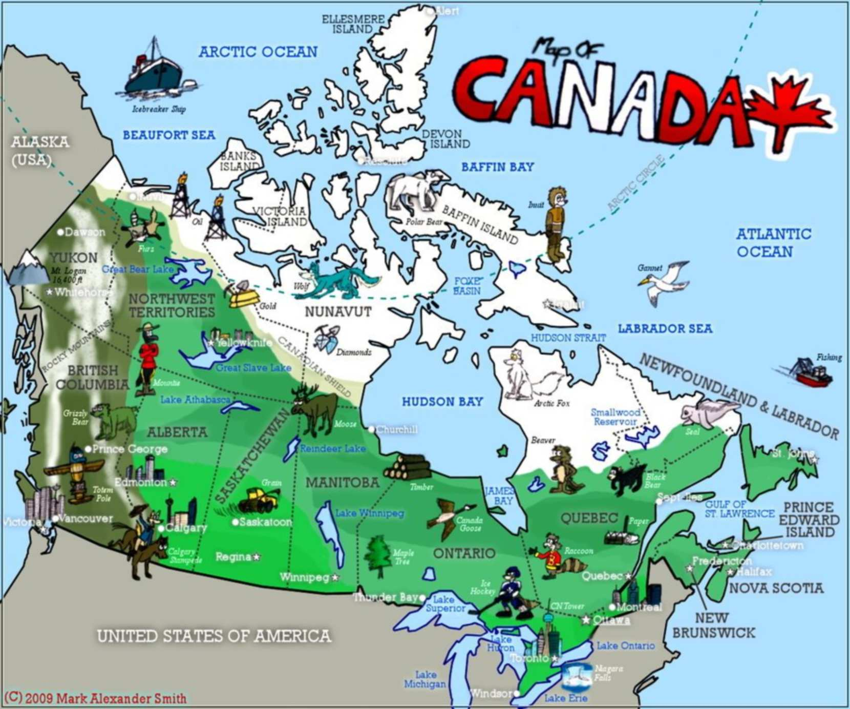 canada quiz image of the map of canada