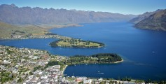 Earth Science Fun Facts for Kids on New Zealand - Queenstown Aerial View in New Zealand - New Zealand Worksheet