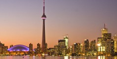 Easy Earth Science for Kids on Canada - image of Toronto, Canada - Canada Worksheet