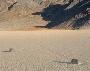 Easy Earth Science for Kids on Moving Rocks of Death Valley - image of Two Moving Rocks
