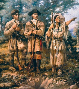 Easy Geography for Kids All About Lewis and Clark - Sacagawea with Lewis and Clark at the Three Forks