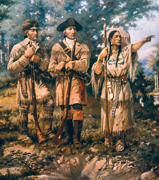 Easy Geography for Kids All About Lewis and Clark - Sacagawea with Lewis and Clark at the Three Forks - Lewis and Clark Quiz