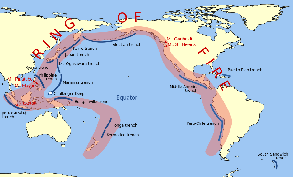 Easy Geography For Kids On Earthquakes Location Of The Pacific Ring Fire Image