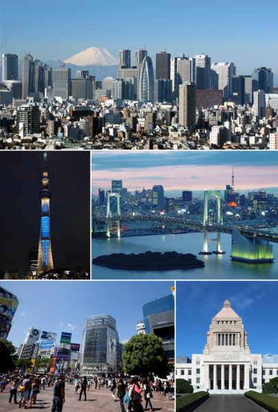 Easy Geography for Kids all about Japan - Image of Tokyo the Capital of Japan