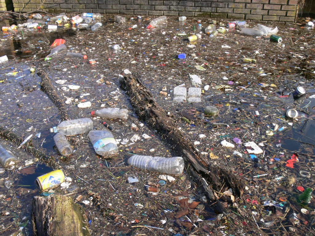 Easy Geography for Kids on Pollution - Image of a Water Pollution