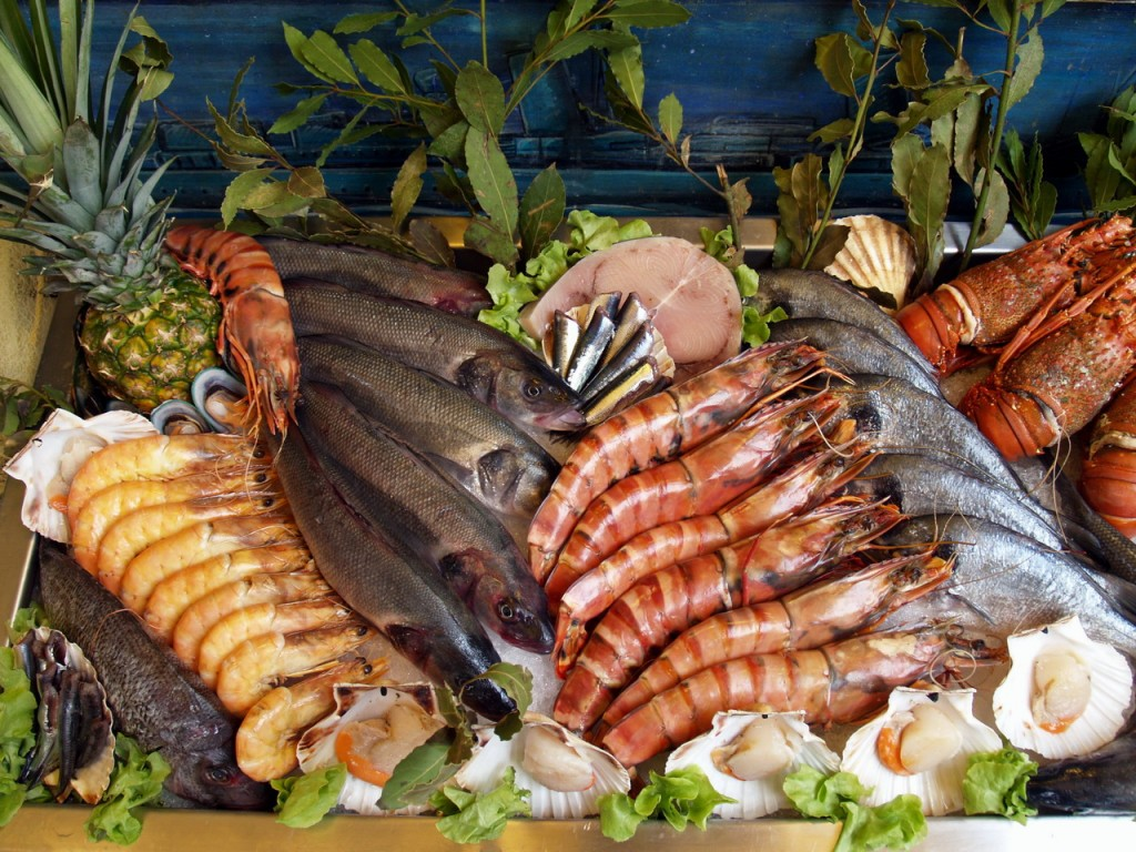 Fresh seafood wallpaper for Fish and seafood