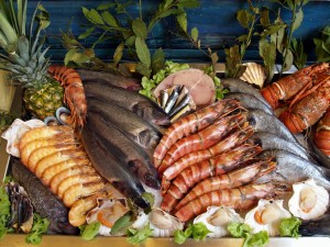 Easy Geography for Kids Regional Foods info - Fresh Fish and Seafood image