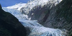 Easy Geography for Kids All About the World's Biggest Glaciers - a Picture of the Franz Josef Glacier in 2001