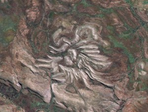 Easy Science Kids Craters - View of the Spider Crater in Western Australia From Above