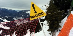 Easy Science for Kids at Home on Avalanche - Avalanche Warning Sign on a Snowy Mountain image