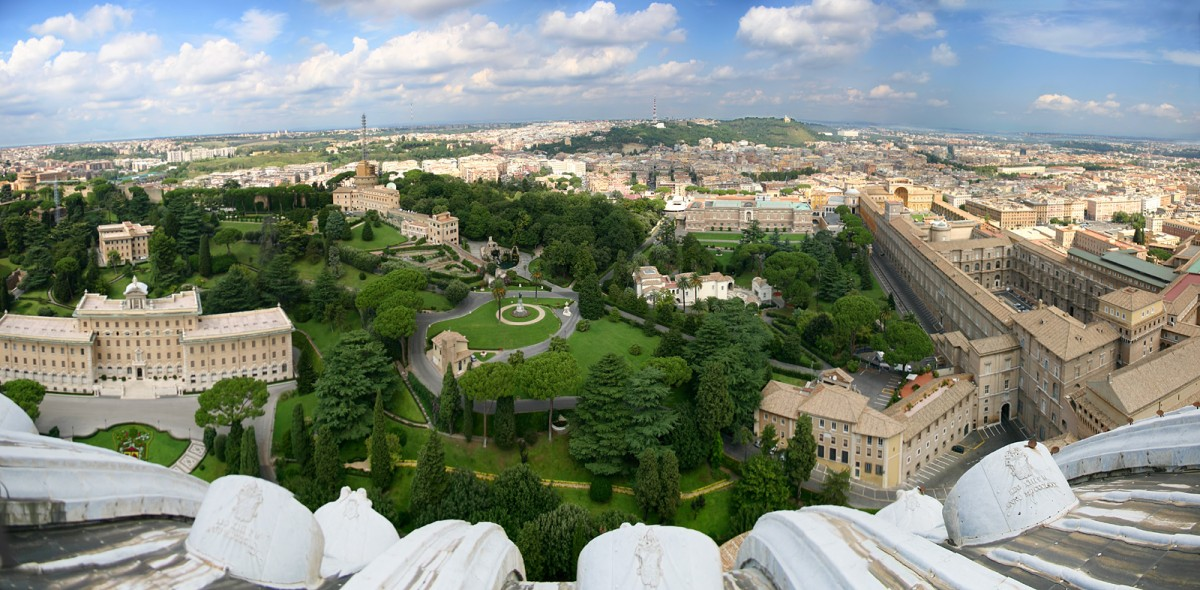 Easy Science for Kids at Home on the Vatican City - Image of the Vatican Garden - Vatican City Worksheet