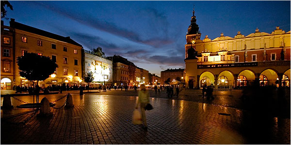 Easy Science for Kids on Poland - the City of Krakow in Poland at Night
